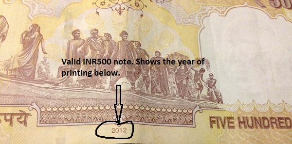 Valid INR1000 currency note